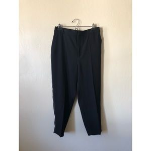 ZARA black tapered straight leg pants NWOT